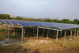 100 kWp Grid Connected Solar Ground Mounted PV Power Project, Chandla Industrial Plastics, Satara
